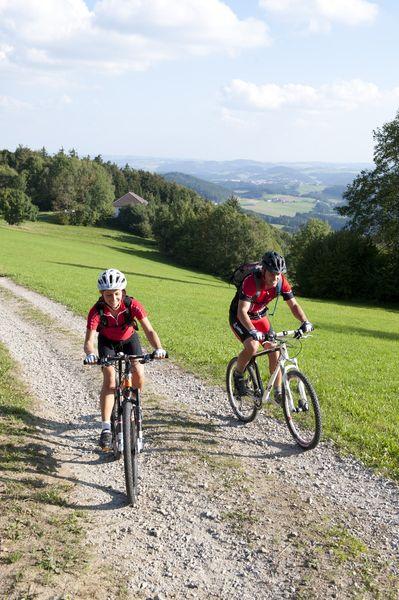 Das #Granithügelland mit dem #Mountainbike entdecken und den #Weitblick genießen. Weitere Informationen zu #Mountainbikeurlaub im #Mühlviertel in #Österreich unter www.muehlviertel.at/mountainbike - ©Oberösterreich Tourismus/Erber
