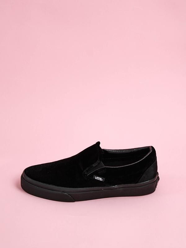 a04a2ec6b5c07a Classic Slip On  Black Velvet – Edge of Urge  edgeofurge  vans  velvetvans   velvet  shoes