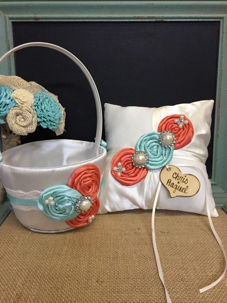 Flower Girl Baskets Pinterest : You design flower girl basket ring bearer pillow