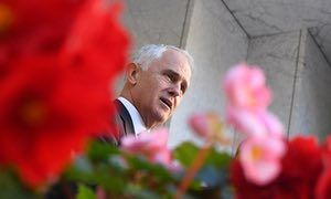 Malcolm Turnbull at a media conference at Parliament House on Tuesday