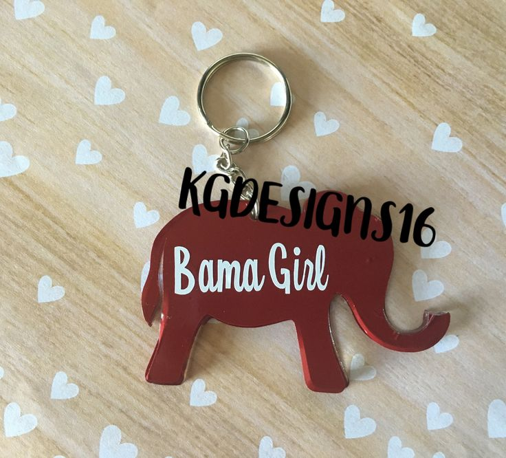 A personal favorite from my Etsy shop https://www.etsy.com/listing/520782796/alabama-girl-acrylic-keychain-roll-tide