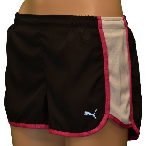 Puma Women's Microfiber Running Shorts-Black « Clothing Impulse