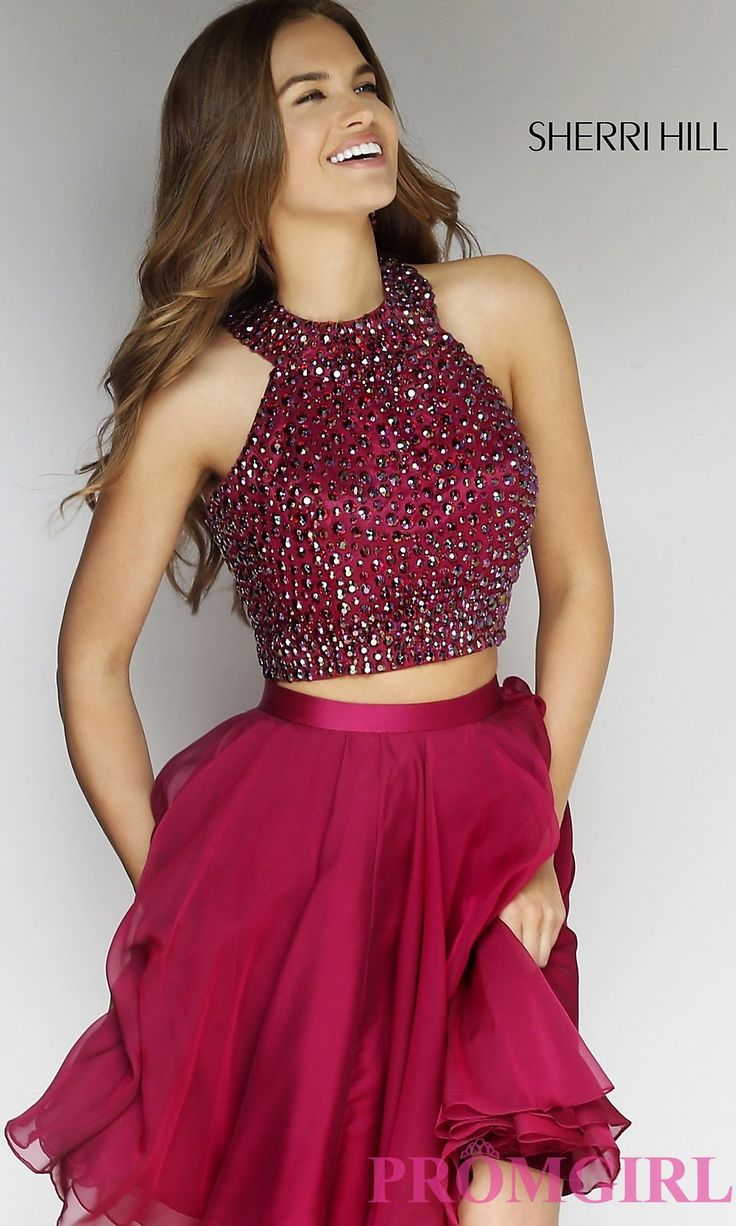 Prom Dresses, Celebrity Dresses, Sexy Evening Gowns: Sleeveless Two Piece Sherri Hill Dress