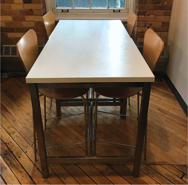 6 Bar Counter Height Chairs Natural