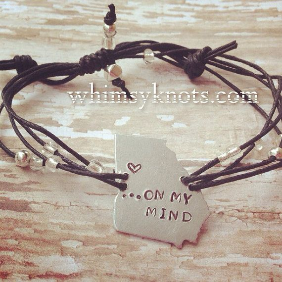 Georgia On my mind--state of Georgia- bracelet . Personalized, Hand-Stamped Jewelry on Etsy, $24.00