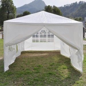 Convenient 10 x 20 White Party Tent Canopy - Simple Quick u0026 Easy to use & 18 best Party Tents Gazebos u0026 Canopies images on Pinterest ...