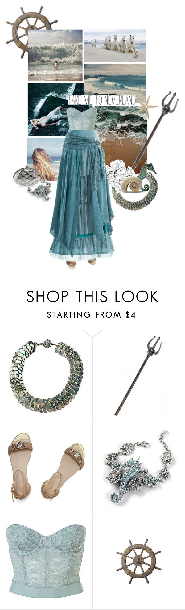 """daughter of Poseidon"" by summersdream ❤ liked on Polyvore featuring Dorothy Perkins and Shabby Chic"