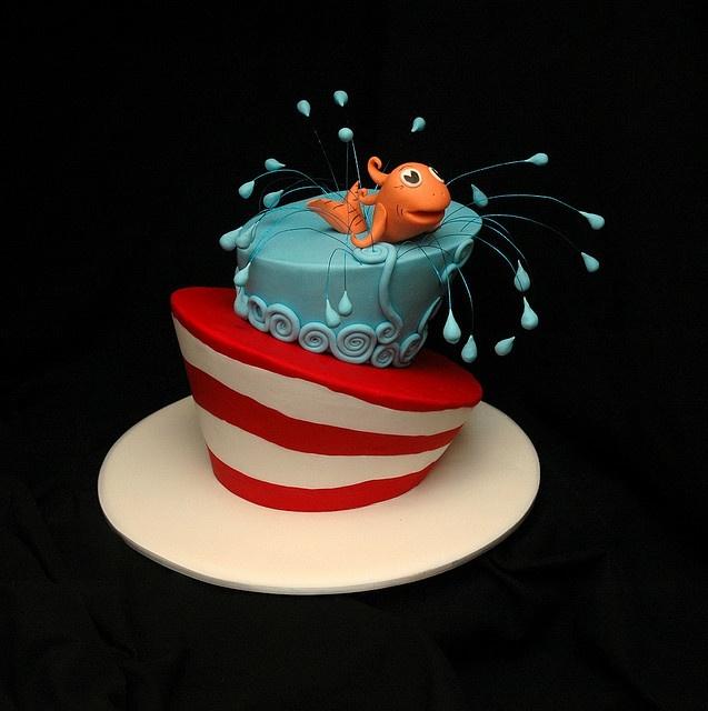 yes please: Cakes Ideas, Cat, Birthday Parties, Hats Cakes, Seuss Cakes, Parties Ideas, Has Cake, Dr. Seuss, Birthday Cakes