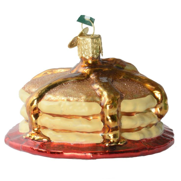 Amazon.com: Old World Christmas Short Stack Pancakes Glass Ornament: Everything Else
