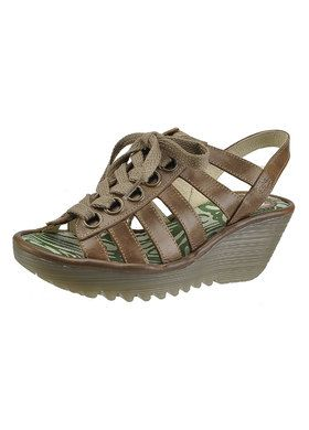 Sznurowane sandały FLY London Yellow Yito P500450001