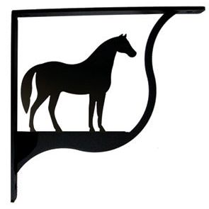 Horse Wrought Iron Shelf Brackets Beautiful Durable And Functional This Pair Of Large