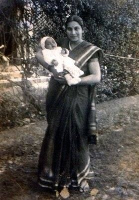 Shri Mataji with Baby Kalpana.