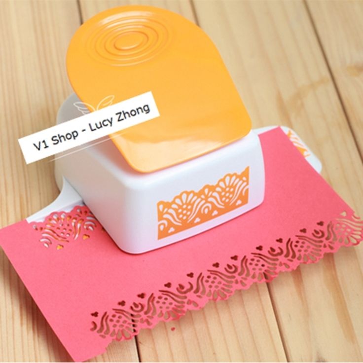 31.74$  Watch now  - 2016 Embossing Device Flower Puncher Paper  Punch Scrapbooking Punches Large Lace Border Papelaria Diy Card Perfurador De Papel