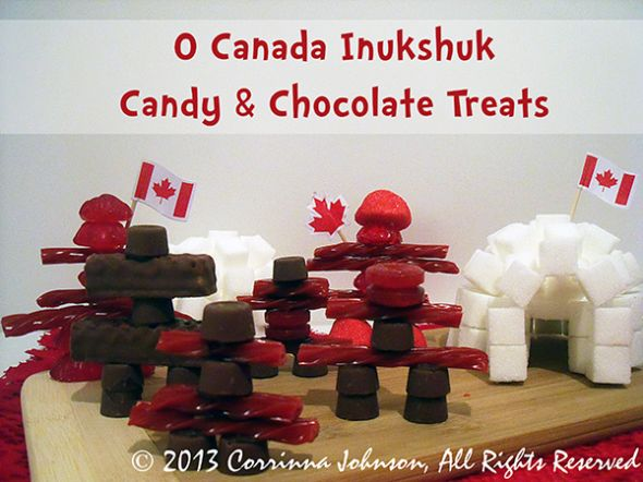 O Canada Candy & Chocolate Inukshuk Treats For Canada Day....These are sooo cute! #Canada #Canadian #recipes #food