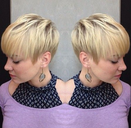 Blonde Straight Hairstyle for Short Hair