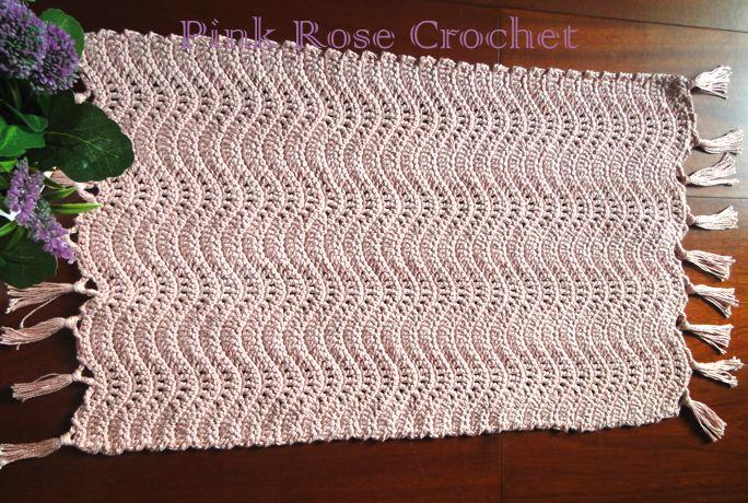 Pink Rose Crochet: Tapete