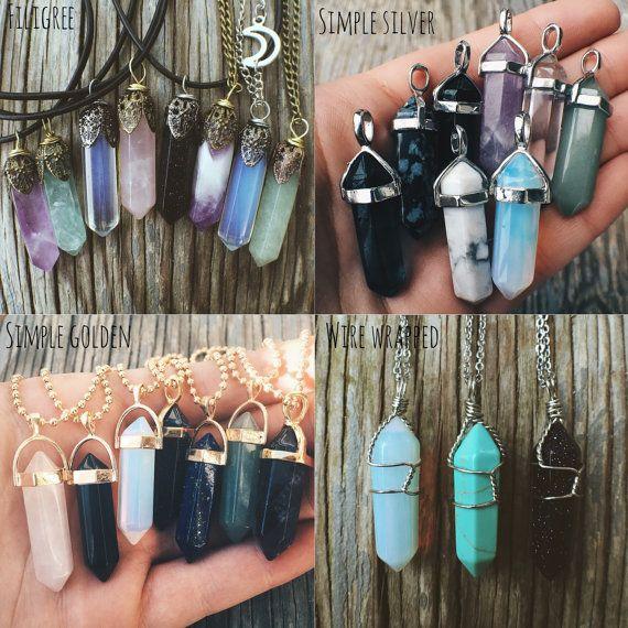 Esses colares com cristais estão muito na moda!!!