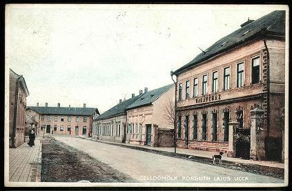 Celldömölk Kossuth Lajos utca. Új Kávéház | Képeslapok | Hungaricana