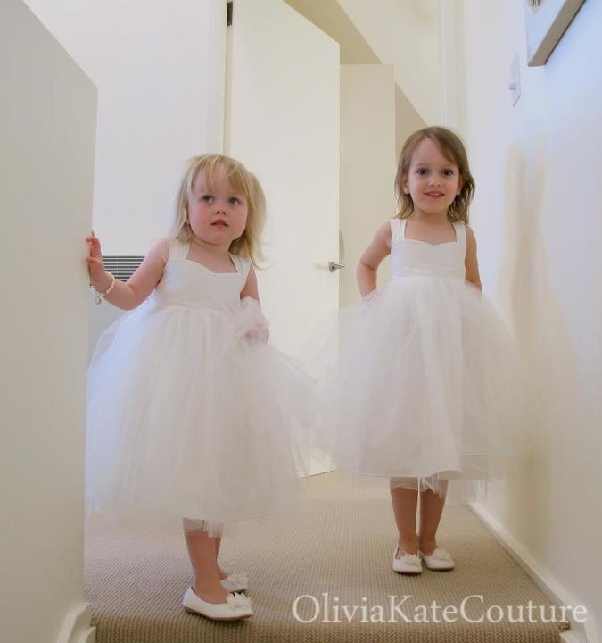 Cream colored flower girl dress