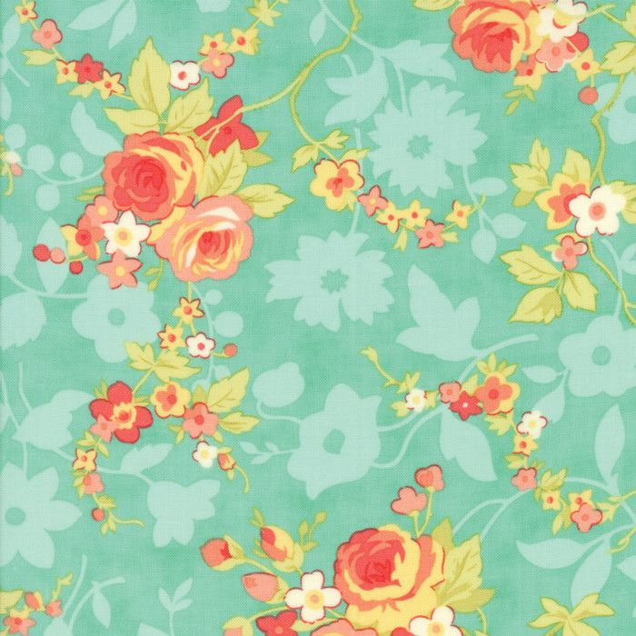 Chestnut Street Blueberry Chestnut Blooms Yardage by Fig Tree Quilts for Moda