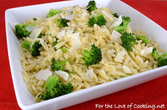 Spicy Broccoli and Orzo