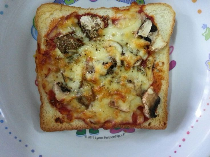 Airfryer pizza toast for breakfast