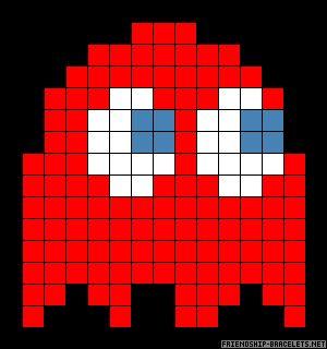 Blinky Ghost Pacman perler bead pattern