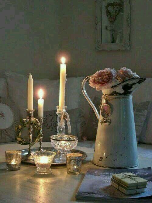 shabby by candlelight...
