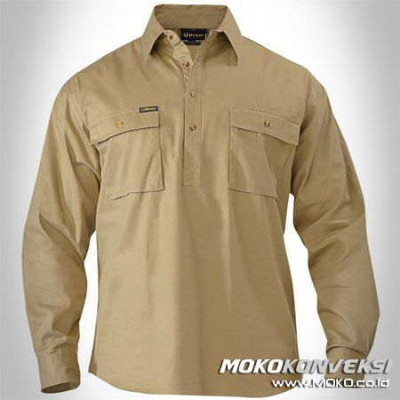 Harga Wearpack Kerja /  Baju Lapangan Lengan Panjang Warna Krem Polos