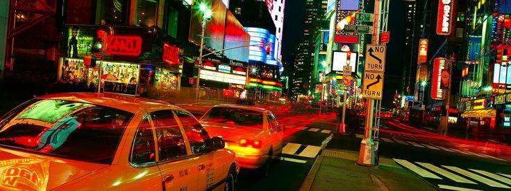 Обои для рабочего стола Таймс-сквер ночью, Манхэттен, Нью-Йорк, США