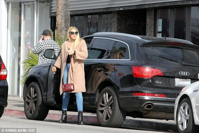 Down to business: Busy Philipps, 37, looked focused and determined as she was seen out running errands in Los Angeles on Monday