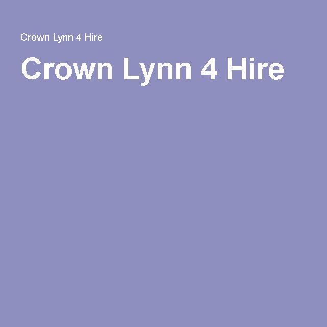 Crown Lynn 4 Hire