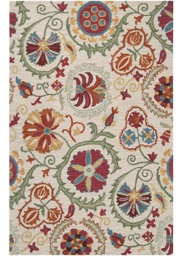 floral suzani rug - Colorful Area Rugs
