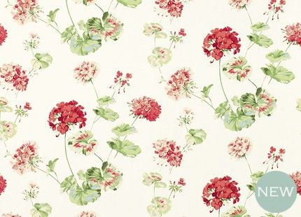 Geranium Cranberry Red Floral Wallpaper from Laura Ashley! Blogger Liberty London Girl has her eye on this one too :)
