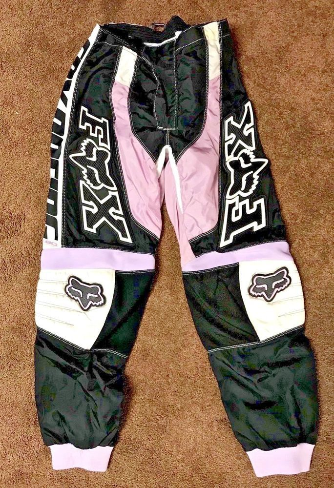 09238614aa43d FOX Brand Women's Riding Pants Dirt bike/ATV/Quad 7/8 Black/white/pink # FoxRacing