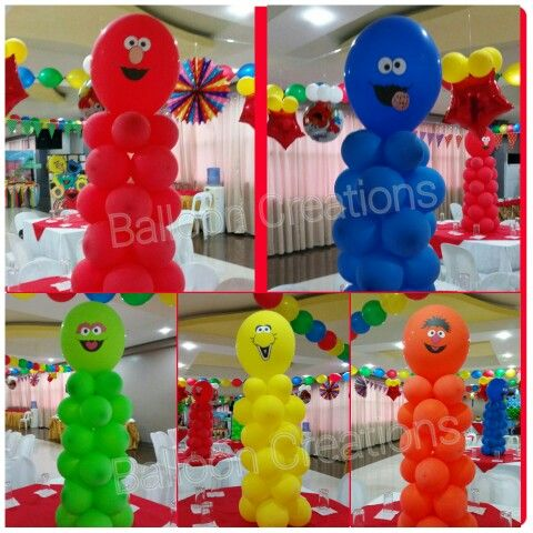 Sesame Street Balloon Characters