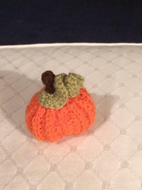 Pumpkin stress reliever, well it worked for my teenaged niece who sat squishing it while the grown-ups talked nonsense over supper.