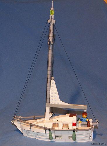"""LEGO Sailing Yacht by Daniel Z """"DNL"""", via Flickr"""