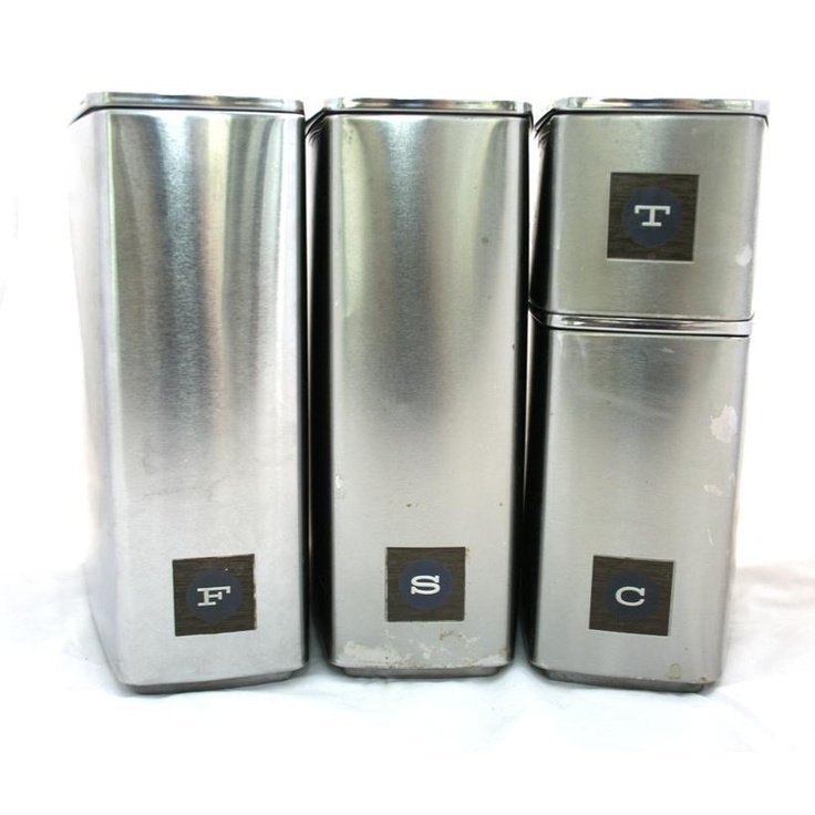 19 Best Stainless Steel Canister Sets Images On Pinterest