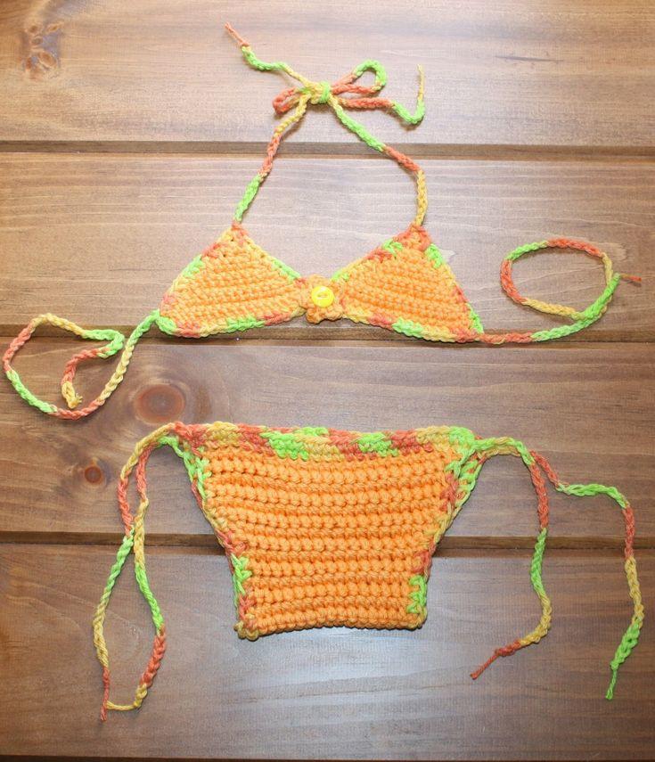 www.RAKJpatterns.com, FREE CROCHET PATTERN, Baby Bikini, Crochet bikini pattern, baby pattern