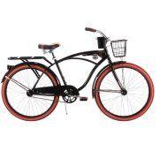"""26"""" Huffy Men's Nel Lusso Cruiser Bike, Black"""