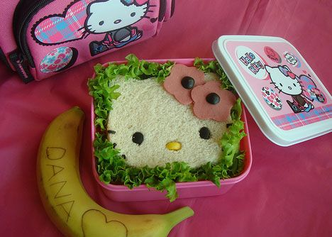 #hellokitty #sandwich: Bento Boxes, Sandwiches, Fun Food, Lunches, Hellokitty, Hello Kitty, Kid