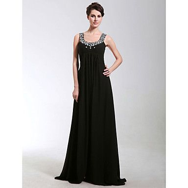 Formal Evening/Military Ball Dress Sheath/Column Scoop Floor-length Chiffon Dress – USD $ 89.99