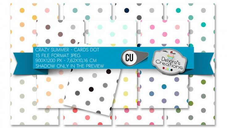 Crazy Summer Cards Dot by Debora's Creations (CU)