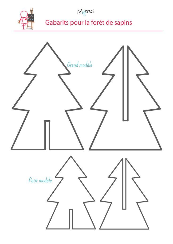 Fabriquez une jolie forêt de sapins en carton ou en papier que vous pourrez décorer si vous le souhaitez. Ces petits sapins seront parfait pour décorer la table du repas de noël par exemple. Une activité créative à faire avec votre enfant qui développe sa motricité fine.