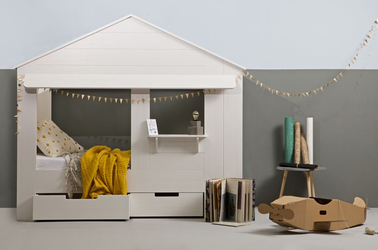 Designed with children in mind, the Dwell House Bed is fun, imaginative, robust enough to sleep and play and includes 2 great underbed storage drawers to help keep bedroom floors tidy. Have even more fun by personalising this glorious bed - just add cushions, curtains, bunting and cute flower pots and it's ready to move in to!