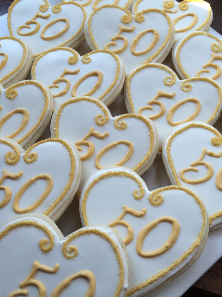 50th wedding anniversary cookies