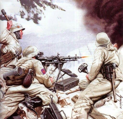 1943 Machine Gun Crew of the Blue Division, Krasny Bor battle of February 10th, 1943