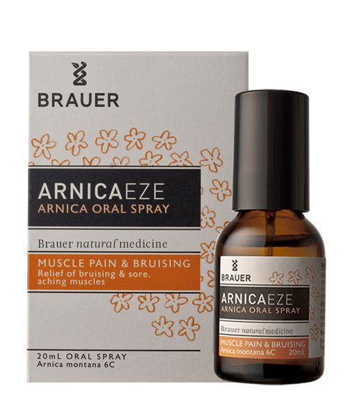 Arnicaeze Arnica Oral Spray 20mL- Arnicaeze Arnica Oral Spray for muscle pain and bruising contains Arnica Montana, which is traditionally used in homeopathic medicine to help relieve strains, sprains, bruising and sore, aching muscles. It may therefore help to relieve muscular pain caused by overexertion, heavy work or sporting activities. The oral spray is easy to carry with you and easy to take.