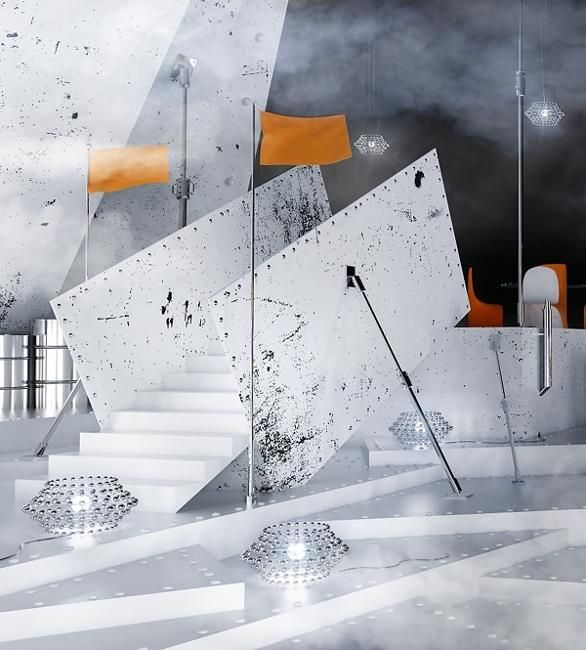 contemporary design and architectural interiors inspired by art painting